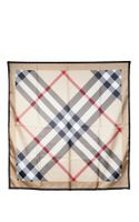 Burberry Giant Exploded Silk Scarf - Lyst