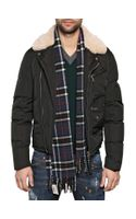 DSquared2 Shearling Matt Nylon Biker Jacket