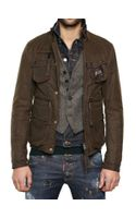 DSquared2 Mixed Fabric Triple Layer Boobou Jacket