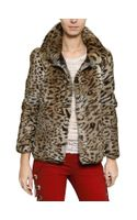 Isabel Marant Leopard Print Rabbit Fur Coat