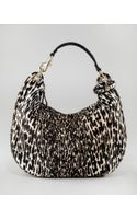 Jimmy Choo Leopardprint Calf Hair Solar Hobo