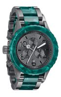 Nixon The 4220 Chrono Acetate Gunmetal Watch - Lyst