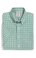 Brooks Brothers Noniron Regular Fit Shortsleeve Alternating Tattersall Sport Shirt