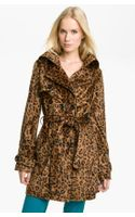 Betsey Johnson Faux Fur Trench Coat