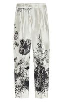 J.Crew Café Floralprint Wool and Silkblend Capri Pants