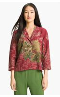 Citron Notch Collar Silk Blend Jacket - Lyst