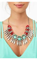 Nasty Gal Stoned Fringe Necklace