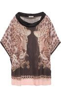 Emma Cook Printed Silk Chiffon Top