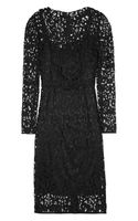 Dolce & Gabbana Wool Blend Lace Dress