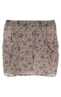 Vanessa Bruno Athé Printed Silk Chiffon Mini Skirt