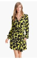 Diane Von Furstenberg Dora Silk Faux Wrap Dress