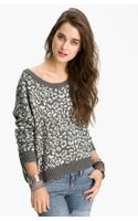 Free People Leopard Print Sweater