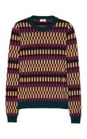 Kenzo Patterned Wool blend Sweater - Lyst