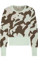 Acne Lia Camouflage Wool Sweater - Lyst
