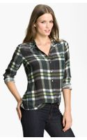 Equipment Brett Plaid Silk Blouse