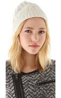 Rag & Bone Felted Cable Beanie - Lyst