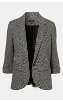 Topshop Diamond Knit Blazer - Lyst