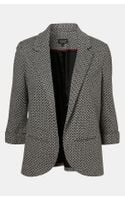 Topshop Diamond Knit Blazer