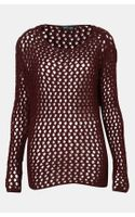 Topshop Chunky Net Knit Sweater - Lyst