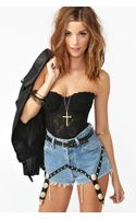 Nasty Gal Garter Cutoff Shorts
