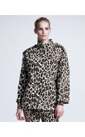 Stella McCartney Womens Leopardprint Linen Cocoon Coat