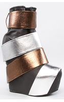 Jeffrey Campbell The Rooney Shoe in Black Bronze and Silver