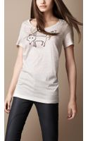 Burberry Fox Graphic Cotton Tshirt - Lyst