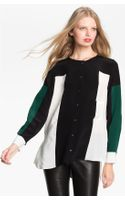 Elizabeth And James Ivy Colorblock Silk Shirt