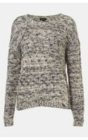 Topshop Tweedy Drop Stitch Sweater - Lyst
