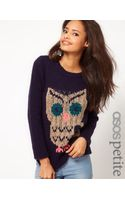 Asos Exclusive Chunky Owl Jumper - Lyst