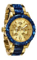 Nixon The 42-20 Chrono Acetate & Gold Watch