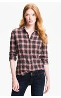 James Perse Tomboy Crinkle Plaid Shirt