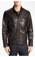 Cole Haan Lambskin Leather Motorcycle Jacket