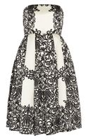 Tibi Violette Printed Woven Silk Dress