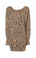 Jane Norman Animal Print Batwing Jumper Dress