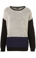 Topshop Knitted Colour Block Grunge Jumper