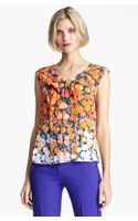 Marc Jacobs Dégradé Floral Silk Crepe Top - Lyst