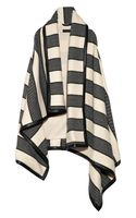 Rag & Bone Leathertrimmed Striped Woven Woolblend Blanket Vest
