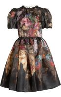 Dolce & Gabbana Printed Silk Organza Dress - Lyst