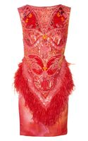 Matthew Williamson Swarovski Crystal Embellished Printed Silk Dress