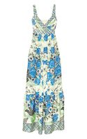 Collette By Collette Dinnigan Printed Silk Maxi Dress