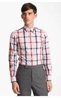 Thom Browne Poplin Check Shirt - Lyst