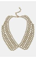 Topshop Beaded Peter Pan Collar Necklace - Lyst