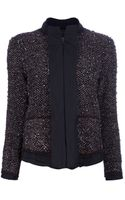 Lanvin Bouclé Zip Up Jacket