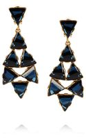 Oscar de la Renta Gold-Plated Swarovski Crystal Clip Earrings - Lyst