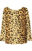 Love Moschino Leopard Print Jersey Top
