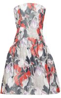 Z Spoke by Zac Posen Printed Taffeta Strapless Dress