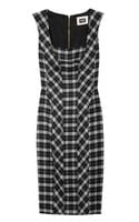 D&G Checked Woolblend Dress - Lyst