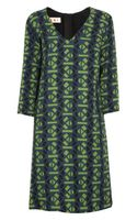 Marni Printed Wovenwool Dress - Lyst