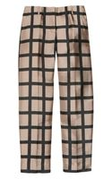 J.Crew Café Windowpanecheck Capri Pants